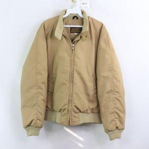 Vintage Eddie Bauer Down Filled Puffer Jacket Tan
